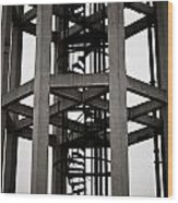 Abstract Water Tower Wood Print