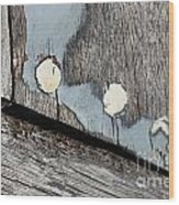 Abstract With Blue Wood Print