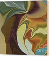 Abstract With Mood Wood Print