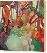 Abstraction Of Dance Wood Print