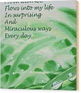 Abundance Affirmation Wood Print