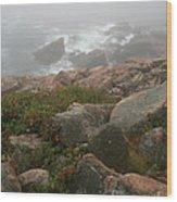 Acadia National Park Foggy Coast Wood Print by Chris Hill