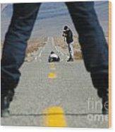 Accident Scene Photographer Wood Print