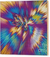 Acetaminophen Crystals Tem Wood Print
