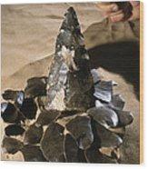 Acheulean Stone Tool Wood Print