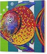 Acidfish 60 Wood Print