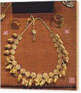 Acorn Necklace Wood Print