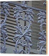 Acorn Railing In New Orleans Wood Print