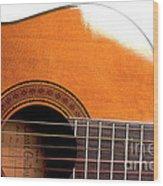 Acoustic Guitar 15 Wood Print