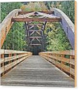 Across The Bridge Wood Print