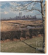 Across The River Wood Print