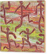 Acrylic Stickmen 2009 Wood Print