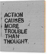 Action Wood Print