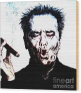 Actor Jack Nicholson Smoking  II Wood Print