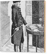 Adam Smith, Scottish Philosopher & Wood Print