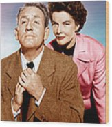 Adams Rib, From Left Spencer Tracy Wood Print