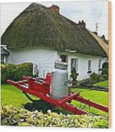 Adare Cottage Wood Print