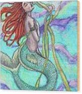 Adira The Mermaid Wood Print