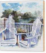Adirondack Chairs Too Wood Print