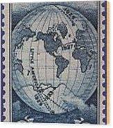 Admiral Richard Byrd Postage Stamp Wood Print