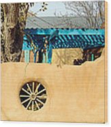 Adobe Wall Wheel Wood Print