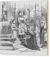 Adoration Of Relics Wood Print