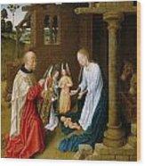 Adoration Of The Christ Child  Wood Print