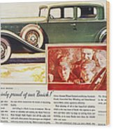 Ads: Buick, 1932 Wood Print