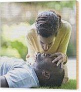 Adult Resuscitation Wood Print