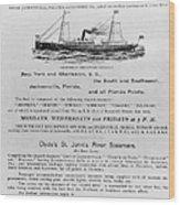 Advertisement: Steamship Wood Print