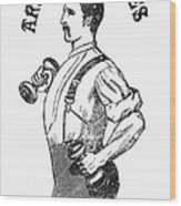 Advertisement: Suspenders Wood Print
