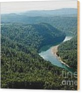 Aerial View Gauley River Wood Print