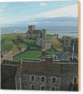 Aerial View Of Dover Castle Wood Print