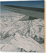 Aerial View Of Himalaya From Plane En Wood Print