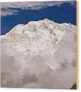 Aerial View Of Mountains, Annapurna Wood Print