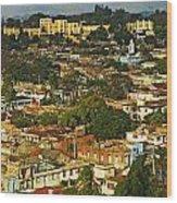 Aerial View Of Santiago De Cuba, Cuba Wood Print