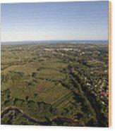 Aerial View Of The Coast Town Of Nadi Wood Print