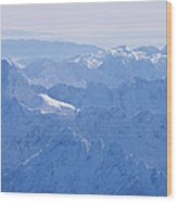 Aerial View Of The Snow-covered Julian Wood Print