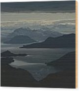 Aerial View Of The Sound Wood Print