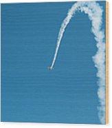 Aerobatic Biplane Downline Wood Print