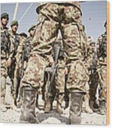 Afghan Air Force Members Get Briefed Wood Print