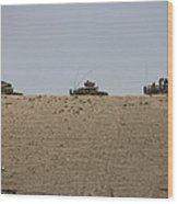 Afghan Army Convoy Drives Wood Print