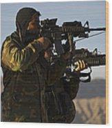 Afghan National Army Commandos Aim Wood Print