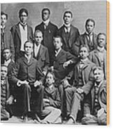 African American Academic Students Wood Print by Everett