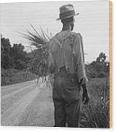 African American Man In Living In Rural Wood Print