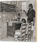 African American Mother Teaching Wood Print by Everett