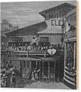 African American Passengers Leaving Wood Print by Everett