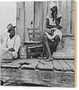 African American Sharecroppers, Titled Wood Print by Everett