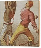 African American Slave Being Whipped Wood Print