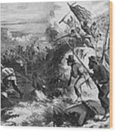 African American Soldiers In A Civil Wood Print by Everett
